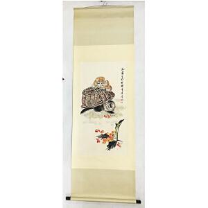 孙菊生《花鸟》纸本立轴