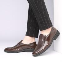 夏季男士凉鞋镂空皮鞋真皮40中年凉皮鞋透气50岁夏天中老年爸爸鞋