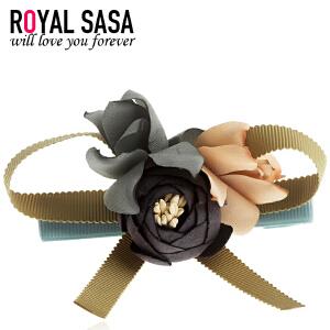 皇家莎莎RoyalSaSa发饰韩版花朵头饰布艺头花发夹发卡韩国边夹侧夹刘海夹