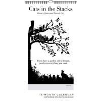 【现货】英文原版 文学书摘与猫 2019.9-2020年挂历 黑白插画 进口日历 礼品 Cats in the Sta