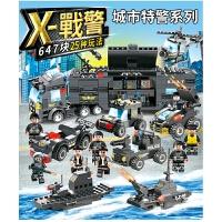 品兴PX260军事黑鹰飞龙特警城市系列积木拼装男孩益智玩具 满月周岁生日礼物六一圣诞节新年礼品