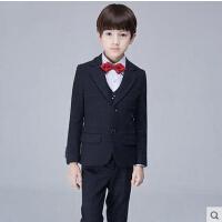 韩版中大童小西装花童礼服加厚男童西装套装韩版儿童西服