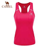 camel骆驼运动女款功能背心 跑步瑜伽透气速干女士背心