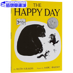 The Happy Day 英文原版绘本0 3 6岁 快乐的一天 凯迪克银奖 常青藤爸爸英语启蒙