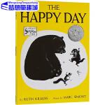 英文原版绘本0 3 6岁 The Happy Day 快乐的一天 凯迪克大奖 常青藤爸爸英语启蒙