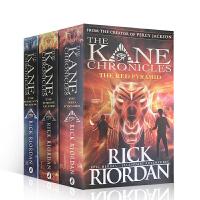 【全店300减100】埃及守护神系列3本套装The Kane Chronicles 凯恩与邪神之塔/烈焰王座/ 蛇神暗影