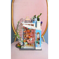 创意小房子建筑朵拉的马卡龙天台diy小屋模型手工拼装制作