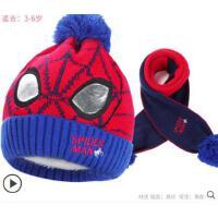 冬季男童迪士尼�和�帽子��脖�杉�套冬加�q蜘蛛�b����帽子��巾套�b