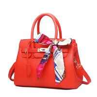 茉蒂菲莉 手提斜挎包女 2020新款欧美女士手提包结婚红色新娘包红色送丝巾挂锁