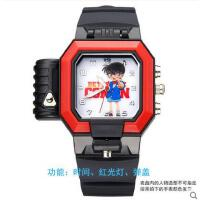 手表  户外多功能手表 时尚名侦探柯南儿童手表激光灯运动表男女孩学生表动漫腕表玩具表