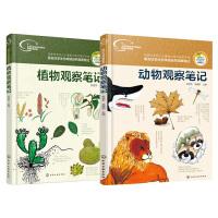 我的大自然观察笔记 动物观察笔记+植物观察笔记 少儿动植物科普书籍 青少年兴趣培养思维观察训练书 少儿科普书籍