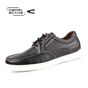 骆驼动感正品春秋男士潮流板鞋休闲透气韩版皮鞋