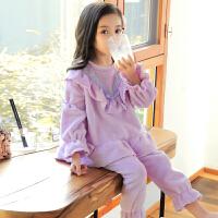 儿童睡衣珊瑚绒女童女孩公主家居服套装