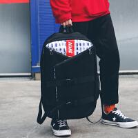 2018新款超大容量双肩包男女情侣旅行背包时尚潮流韩版休闲个性方书包学生