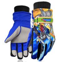 可爱动画卡通款儿童手套五指6-12岁男女棉手套防寒大童滑雪保暖手套