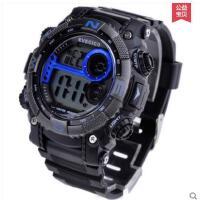 时尚精致耐用防水儿童电子表男表夜光闹钟LED运动多功能大表盘手表