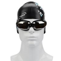 雅丽嘉泳镜 高清男女防雾防水眼镜大框电镀近视带度数舒适游泳眼镜