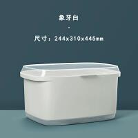 碗筷收纳盒厨房沥水架放用带盖密封碗柜碟箱迷你装餐具防蟑螂小 象牙白 大号 (升级版防蟑螂大容量)