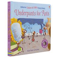 【首页抢券300-100】Usborne Underpants for Ants Listen & Learn 蚂蚁的内