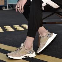 夏季男士休闲男鞋透气网布鞋韩版时尚运动跑步鞋简约青少年学生板鞋户外旅游鞋子 男