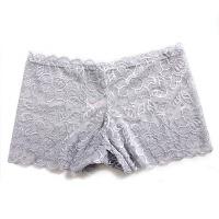 新款性感诱惑透明柔软透气女式低腰蕾丝少女安全平角内裤 均码