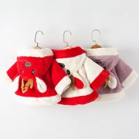 婴儿外套披风秋冬款0-1岁宝宝防风保暖披肩