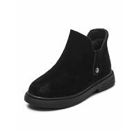 女童短靴加绒秋冬季中大童冬女童鞋儿童鞋子