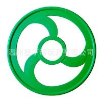 维莱 感统训练器材健身风火轮儿童子早教玩具手推轮运动地龙圈滚铁环 绿色