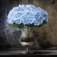 仿真花束7头毛布大绣球 家居装饰假花婚庆花墙SN9916 蓝色 单色2支