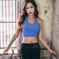 韩国MONODIO正品运动文胸女聚拢型挎脖式吊带背心健身内衣美背瑜珈bra MT0735