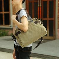 旅行包手提型 潮流男包手提单肩包休闲韩版斜挎包帆布包时尚学生户外旅行包