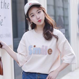 夏季t恤女短袖宽松韩版学生时尚ulzzang半袖上衣女