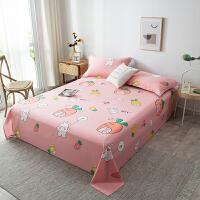 【每满100减50】全棉床单单件双人1.5m1.8米斜纹纯棉棉布被单1.2米学生宿舍床单