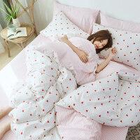 网红款纯棉床上用品四件套学生宿舍床单人被单三件套被套床笠
