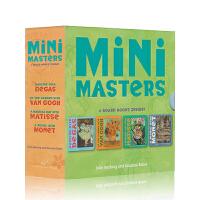 【英文原版】Mini Masters 大师名作4册纸板书 德加、莫奈、马蒂斯、梵高作品