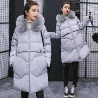 黛熊 孕妇棉衣冬季韩版孕妇装中长款羽绒潮妈大口袋棉袄B-17006