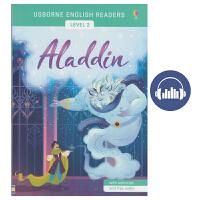 【首页抢券300-100】Usborne English Readers Level 2 Aladdin 英语小读者系列