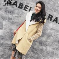 仿皮草大衣外套2017秋冬季新款韩版中长连帽仿羊羔毛加绒加厚女士
