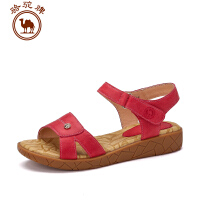 骆驼牌女鞋 夏季新款凉鞋 舒适日常休闲露趾女凉鞋防水台