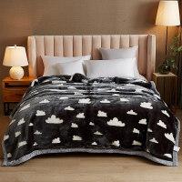 珊瑚绒毯子冬加厚保暖毛毯被子天学生午睡毯法兰绒床单 200*230cm 9斤【双层加厚 已质检】