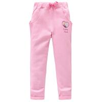 迪士尼童装女儿童可爱卡通印花下装运动长裤KFZ6F1KPKG7411