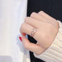 蝴蝶戒指女时尚个性网红指环ins风食指韩版可调节冷淡风装饰潮人