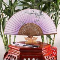 6寸女式折扇中国风扇子日式古风工艺礼品扇 和风绢扇小折叠扇苏扇