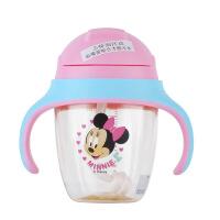 迪士尼ppsu婴儿童训练水杯宝宝学饮杯吸管杯带把三盖