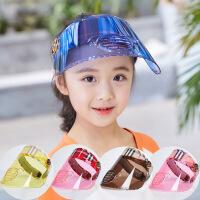 儿童帽子夏季男童女童透气防晒太阳帽防紫外线空顶帽