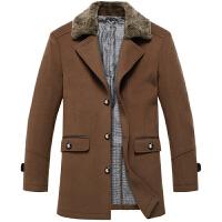 伯思凯男装 冬季新款男士翻领中长款羊毛呢子大衣 呢子外套