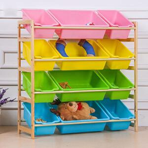 儿童收纳 婴儿宝宝儿童玩具收纳柜玩具架收纳架实木玩具置物架收纳柜整理架幼儿园玩具柜子创意家具