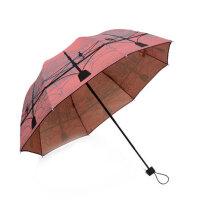 女太阳伞黑胶防晒遮阳伞两用晴雨伞折叠