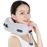 u型枕头多功能肩颈椎脖子颈部腰部肩部电动按摩器车载护颈仪