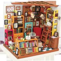3D拼图 diy小屋 创意纯手工拼装山姆书店立体模型